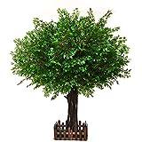 1.5m Árbol de Banyan Artificial, planta Greenary en una olla Árbol de simulación de imitación con cerca para la decoración del hogar al aire libre interior Regalo
