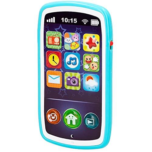 winfun - Teléfono móvil bebés, Juguete teléfono, móvil con sonidos, melodías y luces, + 6 meses, juguetes primera infancia, juguetes bebés, móvil bebés (44523)