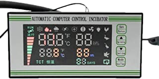 YZmoffer Incubator Controller Intelligence Egg Incubator Controller Thermostat Hygrostat Full Automatic Control with Temperature Humidity Sensor Egg Hatcher Temperature Humidity Meter 110V (XM-18S)
