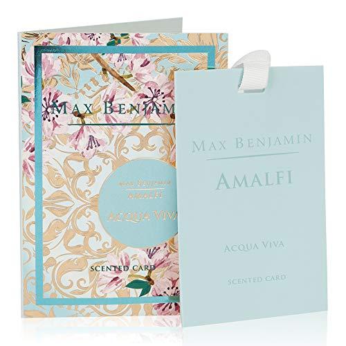 Max Benjamin Amalfi Acqua Viva Duft Karton, Papier, Aqua, 6,5x 10x 0,2cm