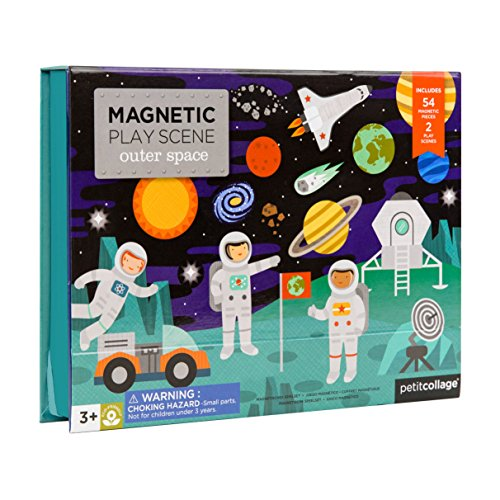 Petit Collage Magnetic Play Scene, Outer Space, Ages 4+ Years