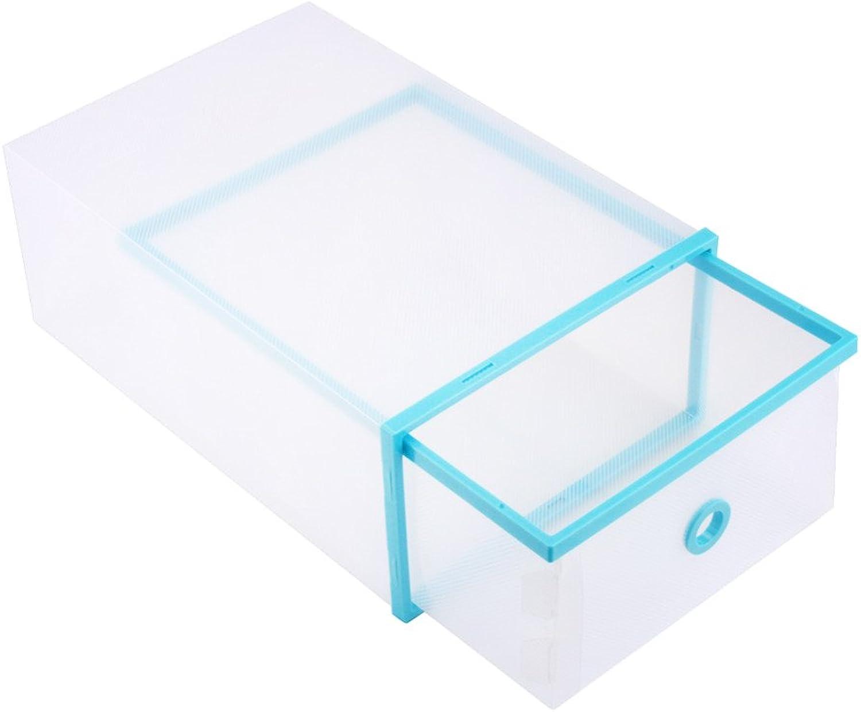 mejor precio Generic Generic Generic Reino Unido  5pcs lot más nuevo apilables plástico transparente caja de zapatos cajas de almacenamiento para el hogar organizador cajón de almacenamiento Caja de zapatos azul  Entrega gratuita y rápida disponible.