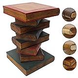 Nachttisch Beistelltisch Bücherhocker Tisch Hocker Buch Stapel Holz Color 50cm Groß Inkl. Südostasien Bildband als PDF Datei