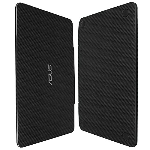 %7 OFF! Skinomi Black Carbon Fiber Full Body Skin Compatible with Asus Transformer Book T100 Chi 10....