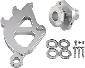 NICECNC Silver Firewall Adjuster & Triple Hook Clutch Quadrant Kit Replace Ford Mustang 1996-2004