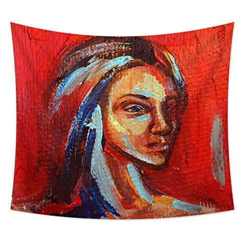 Wandtapijt, kunststof, mandala, Boheemse psychedelisch tapijt, voor visuele kunst schilderen, woonkamer, slaapkamer, deur, ruimtedecoratie 30''*40'' D