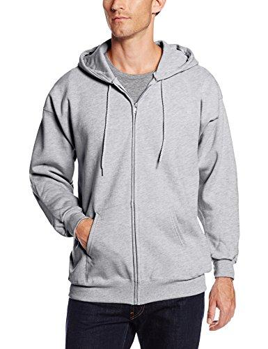 Hanes Men's Full Zip Ultimate Heavyweight Fleece Hoodie, Light Steel, X-Large