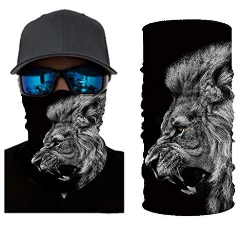 Andouy Face Shields Bedrucktes Multifunktionstuch Damen Herren Elastische Halstuch Nahtlose Schlauchtuch UV Schutz für Yoga Radfahren Motorradfahren(25X50CM.S)