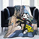 Felix Cat Anime Cool Blankets are Soft, Warm, Light and Breathable, Suitable for Cinema, Yoga, Camping, Picnic Travel, Beach Family80 X60