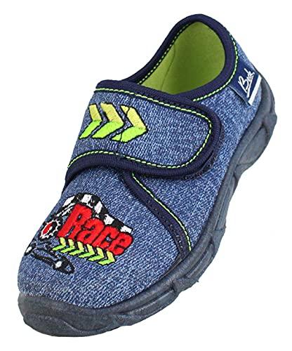 Beck Race, Zapatillas de Estar por casa, Blau (Jeans 20), 35 EU