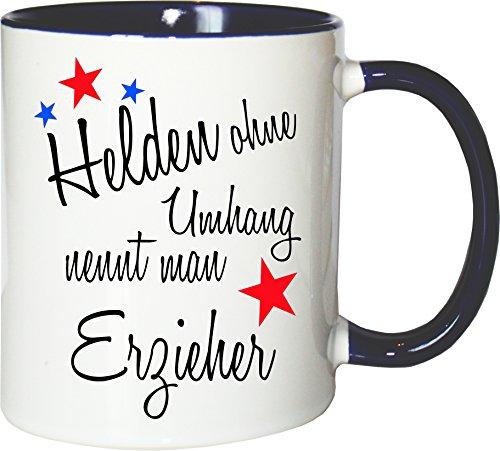 Mister Merchandise beker mok helden zonder omhang engel zonder vleugels werk werk koffie melkkoffie mok liefdevol bedrukt