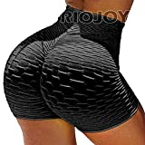 RIOJOY Ruched Booty Shorts for Women Scrunch Butt Push Up Gy