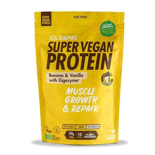 Iswari Super Vigan Protein platano-Vaniglia 350 g, Standard, Único