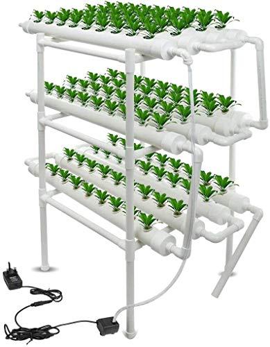 Kit de Cultivo hidropónico 3 capas 108 sitios 12 tubos de cultivo hidropónico, equipo de plantación de hidroponía, herramienta de cultivo de suelo para verduras, flores, frutas Sistema de Plantas hidr