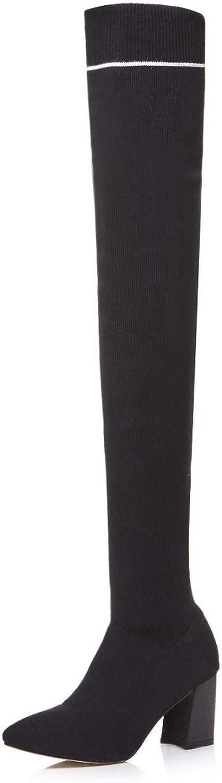 AdeeSu Womens Nubuck Solid Non-Marking Leather Boots SXE04370