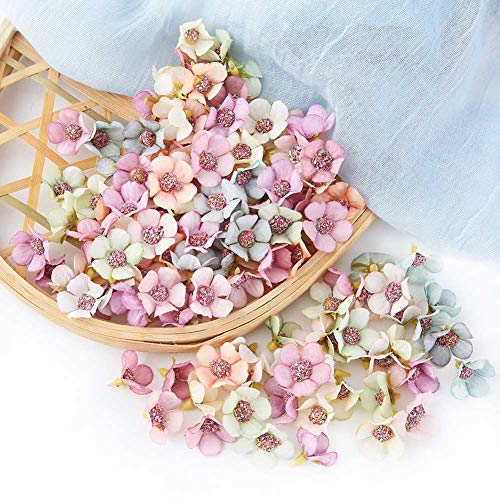PoeHXtyy 50 unids falsas cabezas de margaritas artificiales para el banquete de boda flores duchas de bebé decoraciones