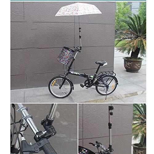 SM SunniMix Soporte de Paraguas de Bicicleta Sólido de Primera Calidad, Paraguas de Cochecito, Soporte Plegable, Soporte de Montaje en Silla de Ruedas, Accesorios
