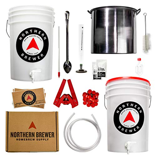 Northern Brewer - Brew. Share. Enjoy. HomeBrewing Starter Set, Equipment and Recipe for 5 Gallon Batches (Chinook IPA with Testing Equipment)