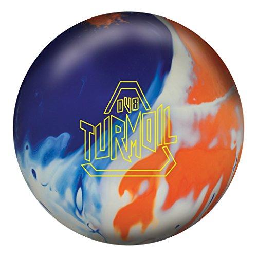 DV8 Turmoil Solid Bowling Ball Turmoil Solid Bowling Ball, Blue/White/Orange, 15 lb