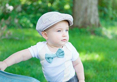 Baby boys suspenders bow tie onesie