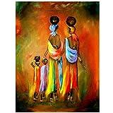 ganlanshu Cuadro En Lienzo Mujer Africana para Sala de Estar Cuadros Decorativos y Carteles Arte de pared60x80cmPintura sin Marco