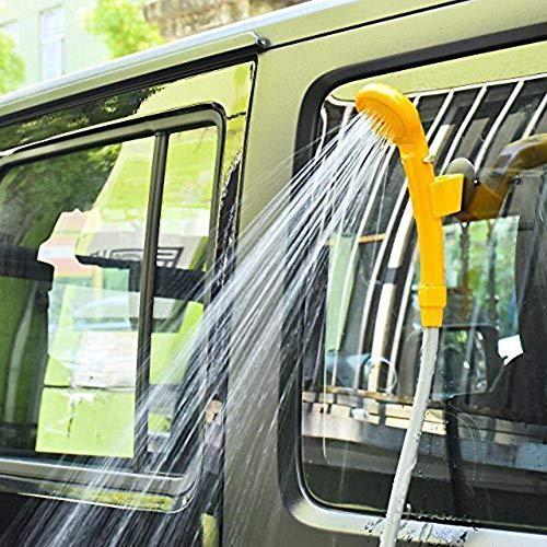 QUUY Ducha portátil para Acampar, Lavadora a presión de 12V Juego de Ducha para automóvil para Uso en Interiores al Aire Libre Lavado de Mascotas Lavado de automóviles Kit de Cubo Plegable