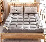 XGHW Colchón de Plumas, colchón Doble Individual, colchón Grueso de Tatami, Plegable colchón de residencia de Estudiantes, Hotel de colchón estéreo (Color : Gray, Size : 90 * 200cm)