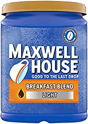 Maxwell House Breakfast Blend Light Roast Ground Coffee (38.8 oz Canister)
