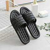 QPPQ Zapatillas de Ducha,Zapatillas cómodas y de Moda, Sandalias de baño Antideslizantes.-40-41_Negro,Mujere Hombre Chanclas