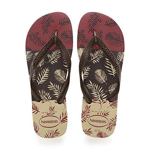 Havaianas Aloha, Infradito Uomo, Beige (Sand Grey/Dark Brown/Black), 37/38 EU