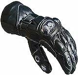 Urbanboutique Hiver été Cuir Textile Moto Imperméable Gants Collection, 04-leather-winter, L