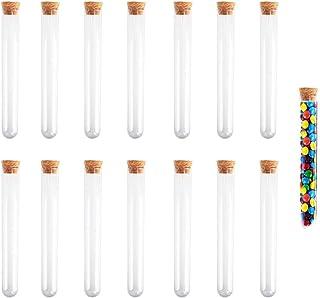 15Pcs لوله های آزمایشگاهی پلاستیکی 30 میلی متر با جعبه کرکره ای کانتینر برای M & M Skittles آبنبات حمام الیاف ذخیره سازی KINDPMA لوله آب نبات روشن برای دانشمند حزب Nerds Party Halloween Party Decoration 20X150mm