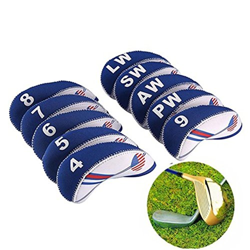 Woopower 10 pcs Cache tête de fer Golf Club Têtes Protector Wedge inclus, durable, tête de club...