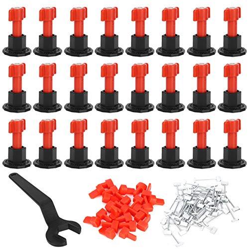 Herramienta de nivelación de baldosas, kit de sistema de nivelación de baldosas de cerámica Nivelador de baldosas de pared para piso Herramientas de colocación Suministros de construcción
