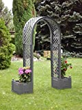 KHW Garden Rose Arch with Planter Boxes