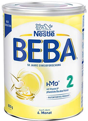 Nestlé BEBA 2 Folgemilch, Folgenahrung nach dem 6. Monat, 1er Pack (1 x 800g)