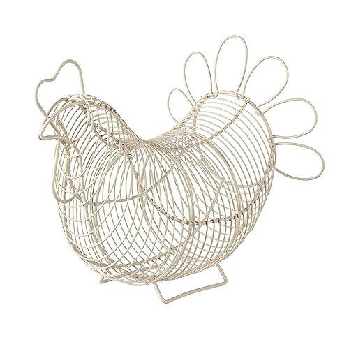 Eddingtons Panier à œufs en forme de poule Crème
