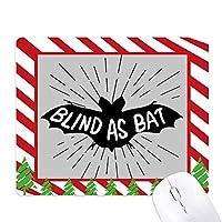 ブラックバットの動物のシルエットのナチュラル ゴムクリスマスキャンディマウスパッド