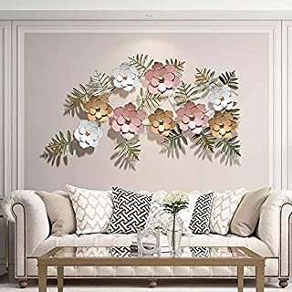 ARCADIA™ Metal Flower Wall Art Iron Wall Hanging Home Decoration Perfect for Living Room/Hotel/Restaurant/Bedroom/Drawing ...