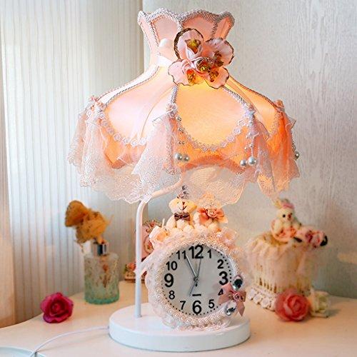 Bonne chose lampe de table Petite lampe de table Chambre Lit Enfants Princesse Salle Lumières Avec Horloges Et Montres Décoré Cadeau Lampe De Table