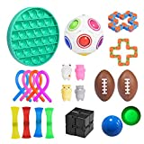 Aicheng Sensory Fidget Toys Set, 21 Pack Relieves Stress and Anxiety Fidget Toy, Stress Relief and Anti-Anxiety Tools Bundle, Stress Relief Hand Toys, for Kids and Adults
