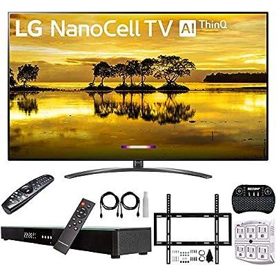"LG 75SM9070PUA 75"" 4K HDR Smart LED Nanocell TV w/AI ThinQ (2019) + Deco Gear Home Theater Surround Sound 31"" Soundbar + Deco Mount Flat Wall Mount Kit + 2.4GHz Wireless Keyboard w/Touchpad + More"