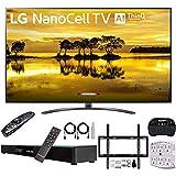 LG 75SM9070PUA 75' 4K HDR Smart LED Nanocell TV w/AI ThinQ (2019) + Deco Gear Home Theater Surround Sound 31'...