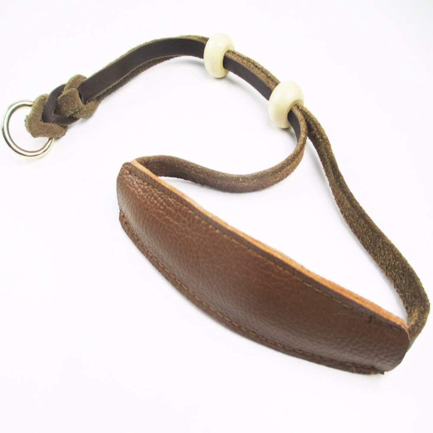 Hhxx9 Pet Collar Easy to Pull Cowhide Collar Pet Retractable,Brown