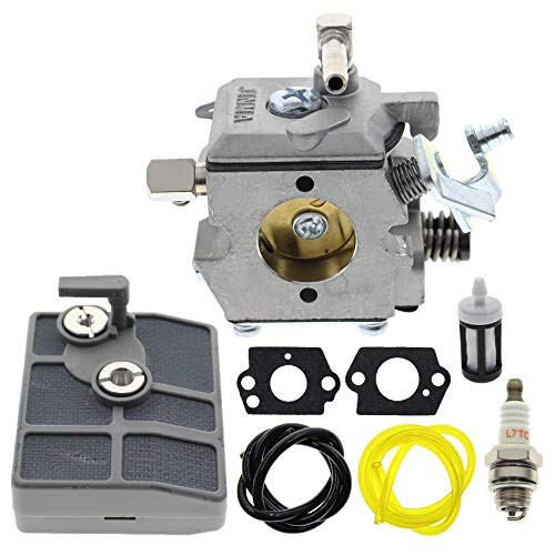AUTOKAY WA-2-1 Carburetor for Chainsaw Stihl 030 031 031AV Paramount PLT2145 Poulan 112 DPT112 Weed Eater LT7000 GTI17LE GTI52 SST45 with Fuel Line Fuel Filter Gasket Spark Plug
