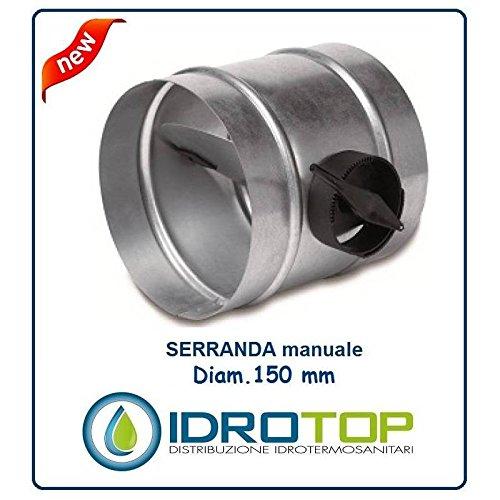 Spanslot Ø 150 mm regelt de lucht in de leiding of pijpleiding flexibel