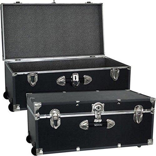 Mercury Luggage Seward Trunk Wheeled Storage Footlocker, 30' /Model: 6113-18 /color: Black