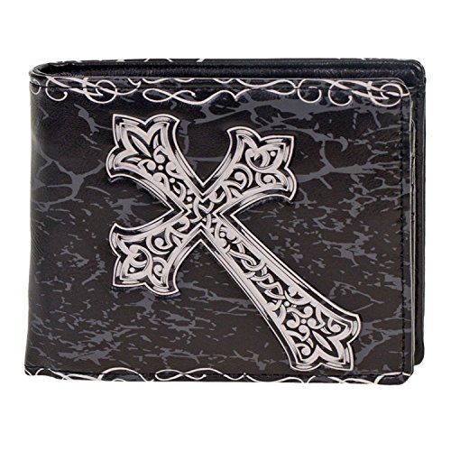 Shag Wear Men's Bifold Wallet Celtic Cross