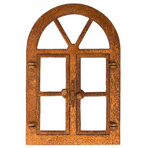 aubaho Nostalgie Stallfenster 59x40cm Eisen Eisenfenster Klapp Fenster Rost antik Stil