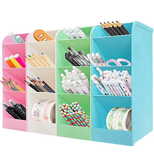 4Pcs organizer scrivania,ortapenne da scrivania bambini,Penna Organizer Portaoggetti,porta penne storage,Portapenne Multifunzione,porta penne,Portapenne da scrivania (A)